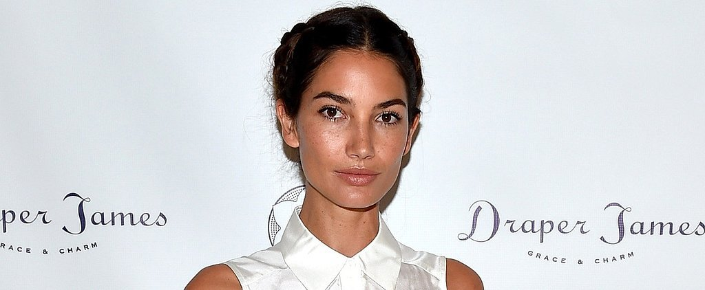 Lily Aldridge Styled Her Denim Skirt in the Coolest Way