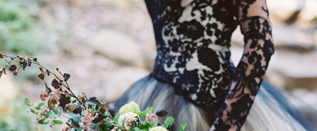 This Black Lace Wedding Dress Is Perfect For an Edgy Bride