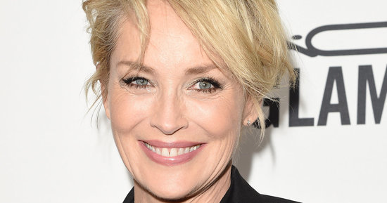 Sharon Stone Wows In A Sheer Top