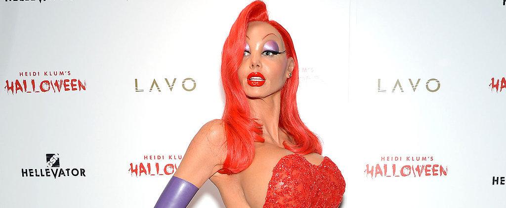 You Definitely Won't Recognise Heidi Klum in This Jessica Rabbit Halloween Costume