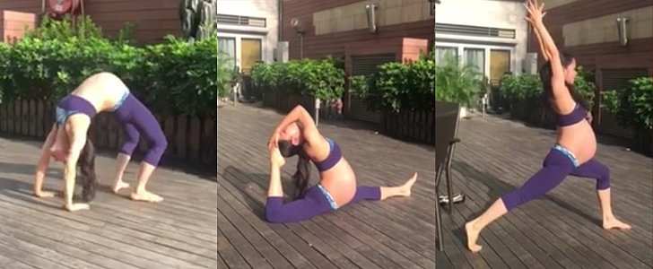 This Pregnant Woman Doing Yoga Is Completely Mind-Blowing