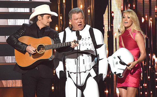 FROM EW: William Shatner Sang 'Girl Crush' in a Stormtrooper Costume at the CMAs