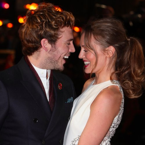 Sam Claflin and Laura Haddock Cute Pictures