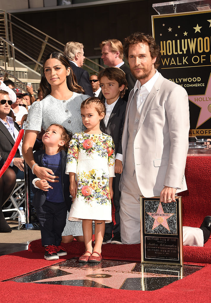 The star's adorable family helped celebrate his star on the Hollywood Walk of Fame in November 2014.