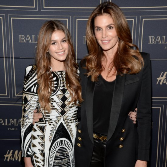 Cindy Crawford and Kaia Gerber at Balmain Event