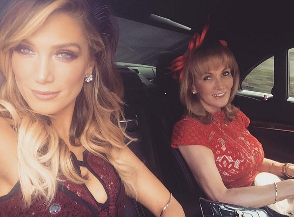 And once again for race day at the Caulfield Cup with her mum, Lea Goodrem.