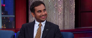 Aziz Ansari's Interview With Stephen Colbert Is So Awkward but So Badass