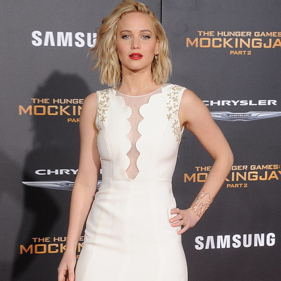 Jennifer Lawrence in Dior at Los Angeles Mockingjay Premiere