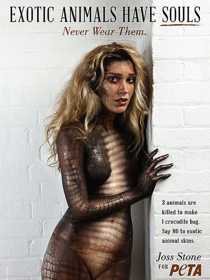 Joss Stone Strips Down and Scales Up in New PETA Ad