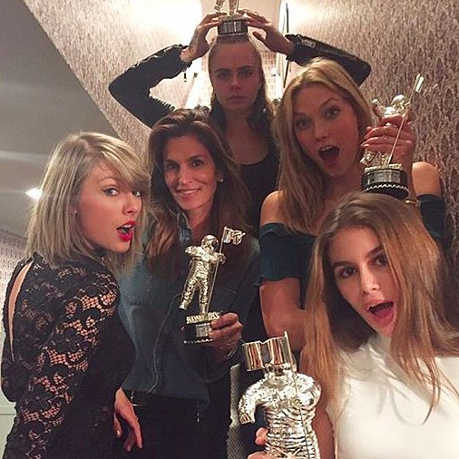 Gigi Hadid Hangs Out With Taylor Swift and Selena Gomez 2015