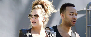 Chrissy Teigen Shows Off Her Baby Bump After Hitting the Gym With John Legend