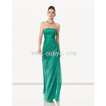 Fashion Empire Strapless Floor Length Evening Dress