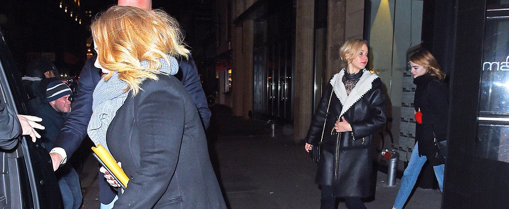 Jennifer Lawrence, Adele, and Emma Stone Have the Most Enviable Girls' Night Out in NYC
