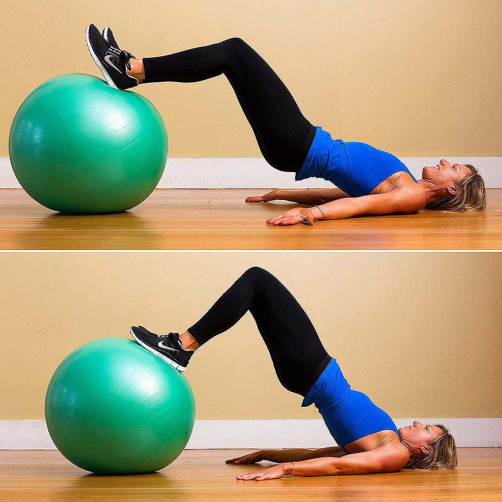 Stability Ball Glute Bridge: Get Grounded But Lifted: 3 Floor