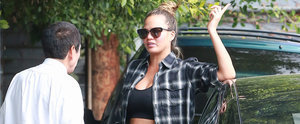 Chrissy Teigen Flashes Her Bare Baby Bump During an Outing in LA