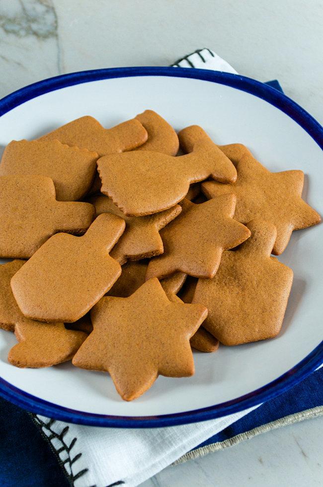 Hanukkah-Style Gingerbread Cookies