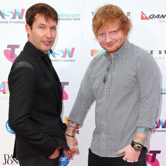 Pictures of Ed Sheeran and James Blunt Holding Hands