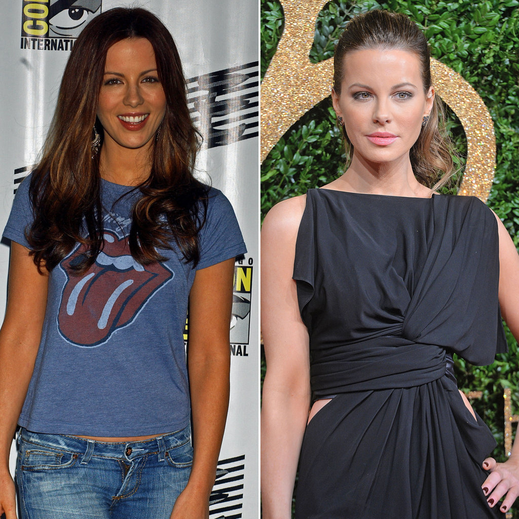 Kate Beckinsale in 2005 and 2015