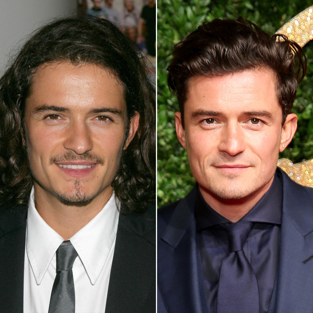 Orlando Bloom in 2005 and 2015