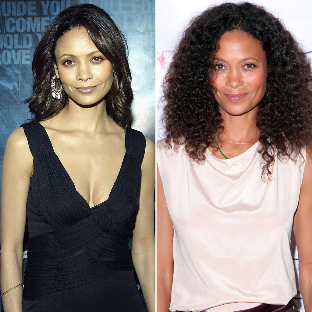 Thandie Newton in 2005 and 2015