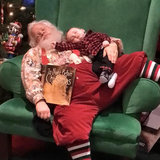 This Is What Happens When Your Kid Falls Asleep on Santa's Lap