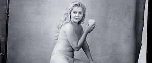 Amy Schumer Nonchalantly Sips a Latte While Posing Nearly Naked For the Pirelli Calendar