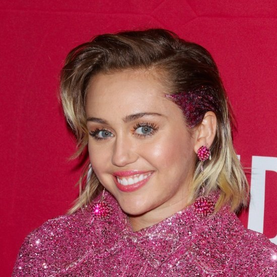 Miley Cyrus With Glitter Roots