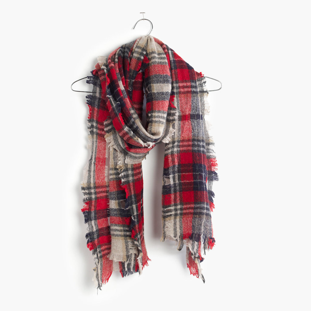 The perfect scarf should be two things: cozy and cuddle-worthy. This Madewell scarf ($58) meets both requirements.