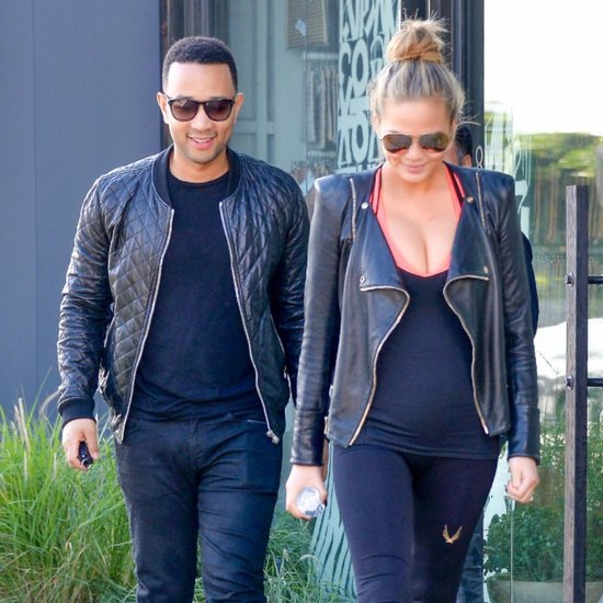 John Legend and Chrissy Teigen in LA December 2015