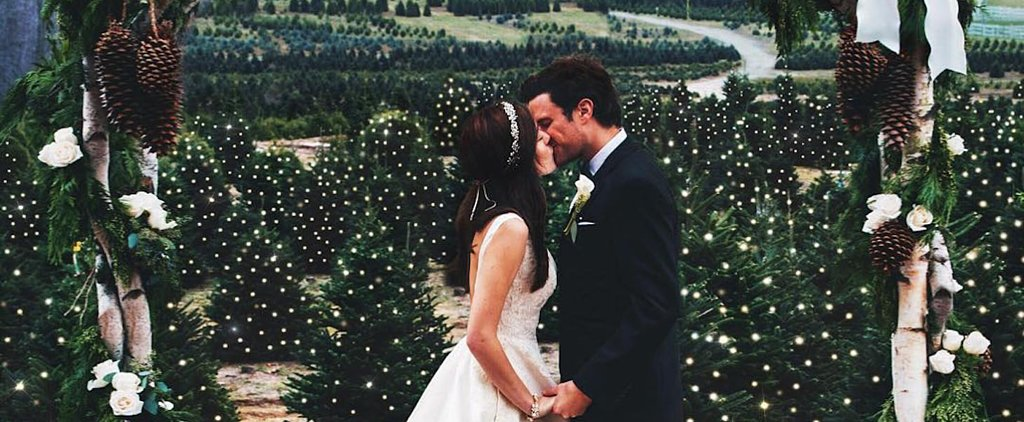 This Christmas Tree Farm Wedding Cannot Be Real Life — It's Too Perfect
