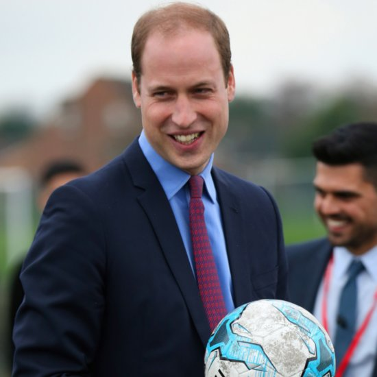 Prince William Playing Soccer December 2015