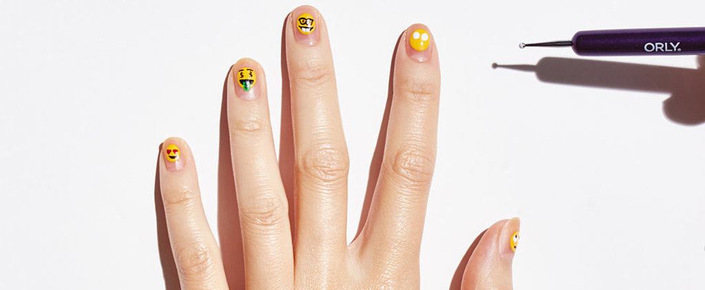 How to Paint Tiny, Adorably Chic Emoji on Your Nails