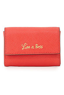 Rebecca Minkoff Like a Boss Saffiano Card Holder