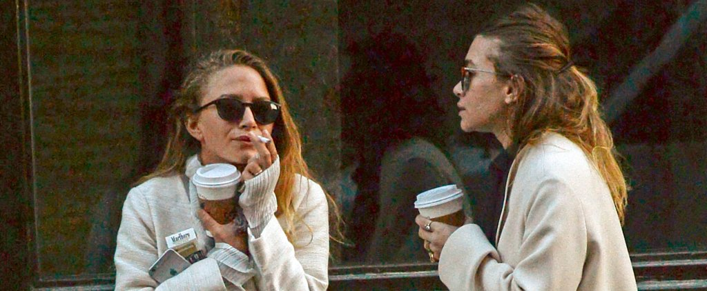 Mary-Kate Olsen Shows Off Her Wedding Ring During a Smoke Break With Ashley