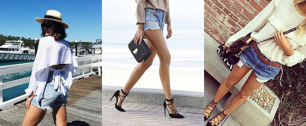 12 Cool-Girl Ways to Wear Denim Shorts