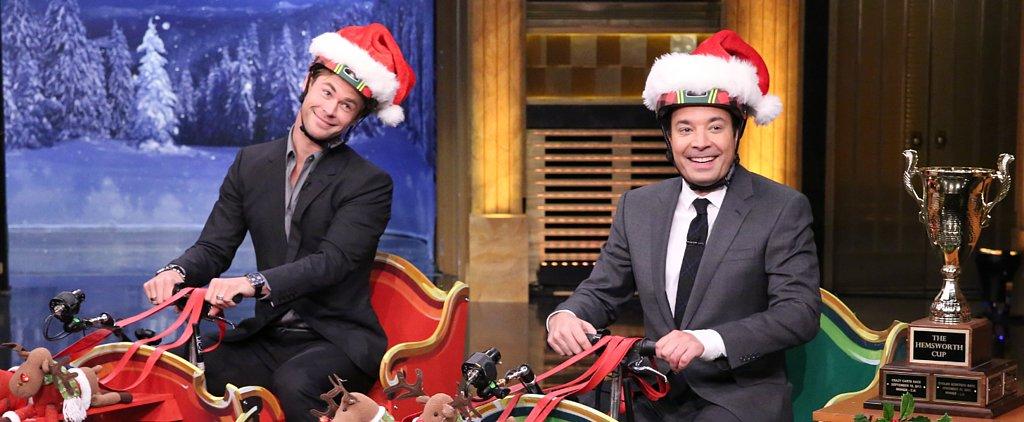 Chris Hemsworth Breaks the Rules in His Sleigh Race Against Jimmy Fallon