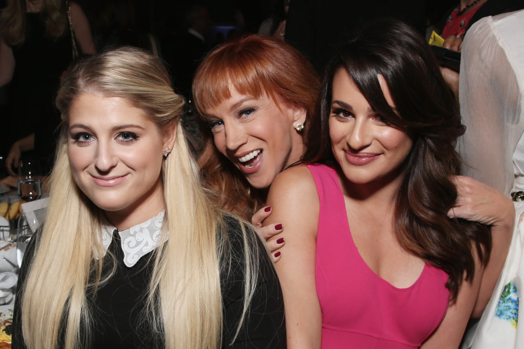 Pictured: Kathy Griffin, Lea Michele, and Meghan Trainor