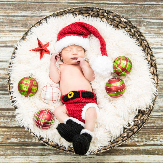 Crocheted Christmas Outfits For Babies