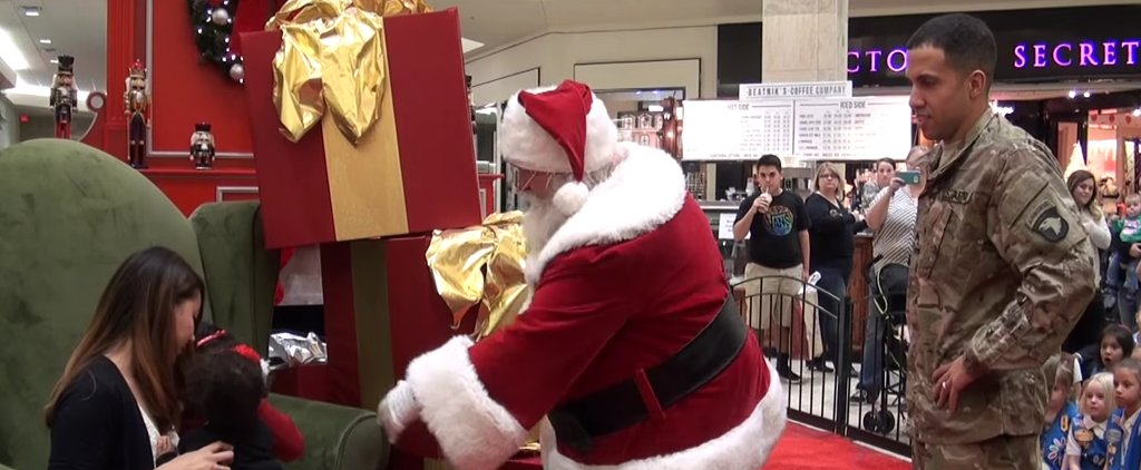 Little Girl Asks Santa to Bring Her Dad Home From the Military For Christmas, So He Works His Magic