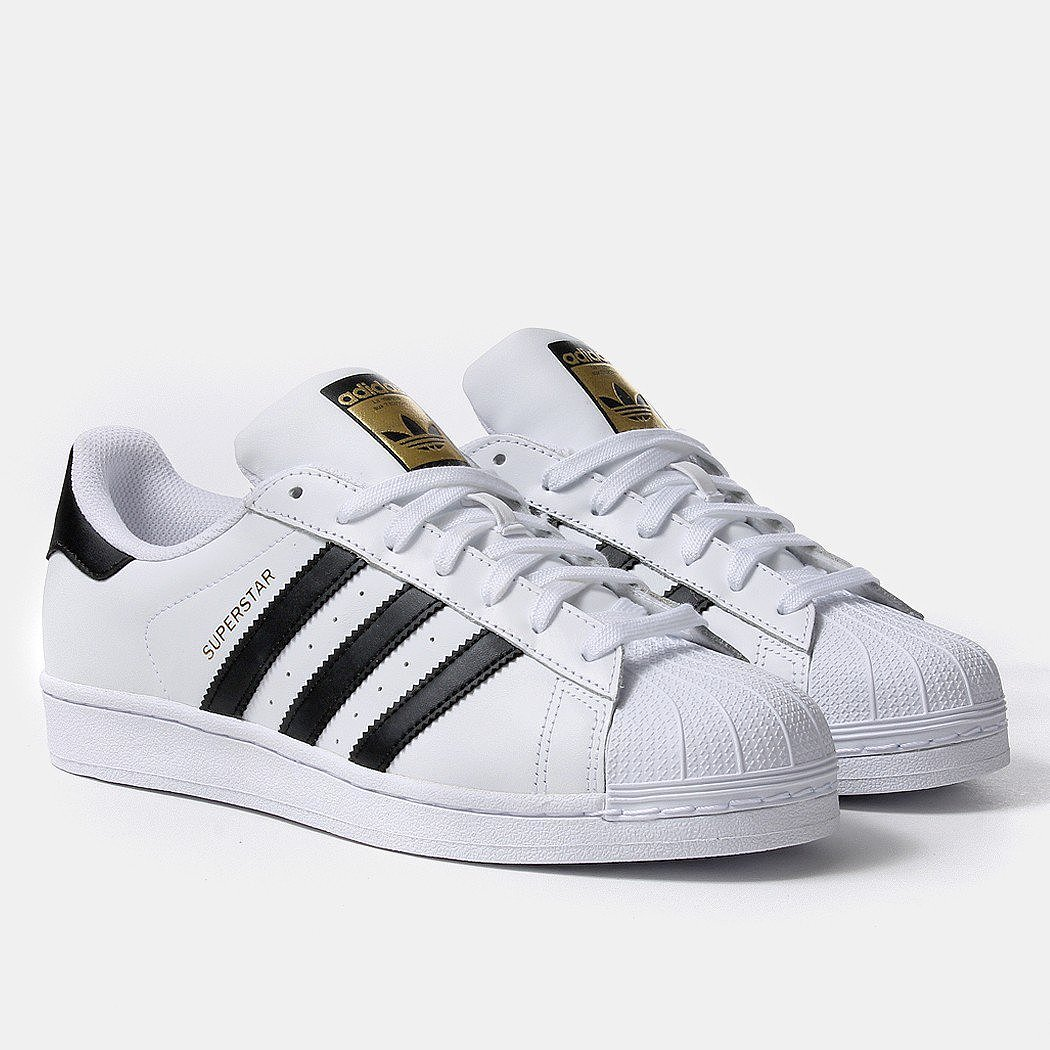 adidas superstar sneakers in white and black 119 99