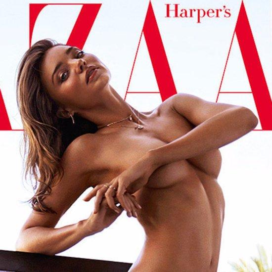 Miranda Kerr Nude Cover For Harper's Bazaar Australia 2015