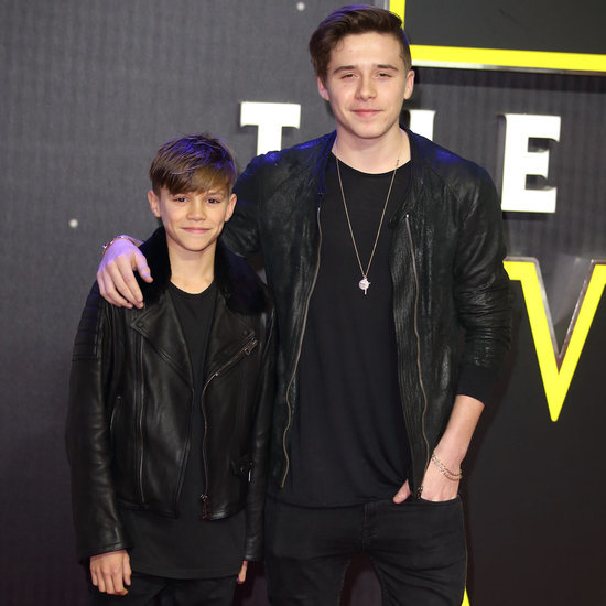Brooklyn and Romeo Beckham at the UK Star Wars Premiere