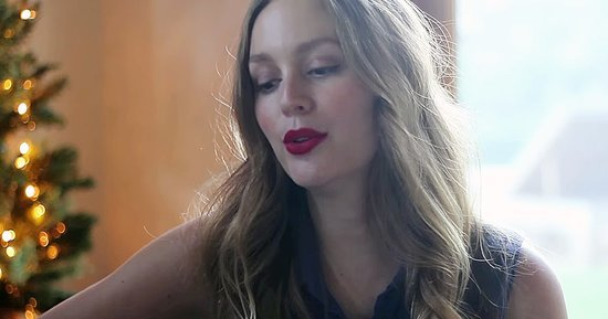 """Watch Leighton Meester Sing Elvis' Hit Holiday Tune """"Blue Christmas"""""""