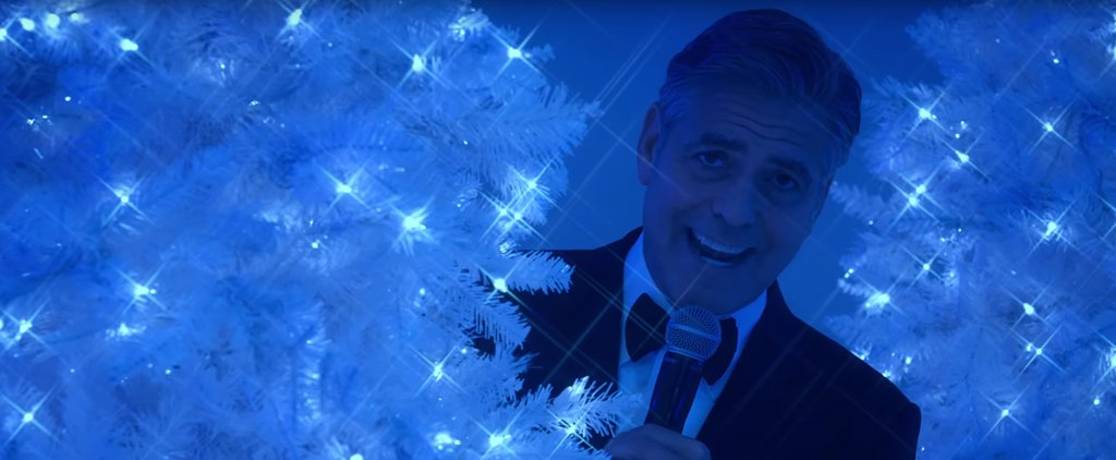 George Clooney Will Serenade You While Playing Hide-and-Seek Behind a Christmas Tree