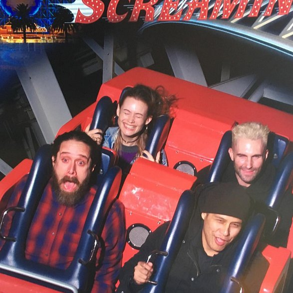 The two couldn't contain their excitement as they rode the California Screamin' roller coaster at Disneyland in 2015.