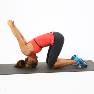 Neck, Back, Chest Stretch: Kneeling Tipover Tuck