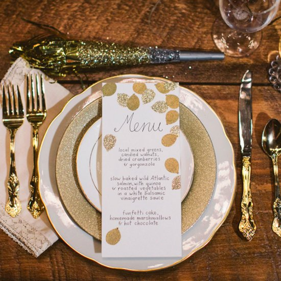 Gold and Glitter New Year's Eve Wedding