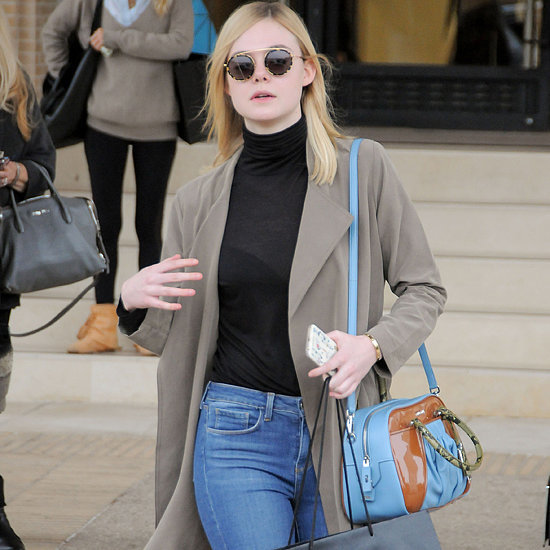 Elle Fanning Carrying a Miu Miu Bag