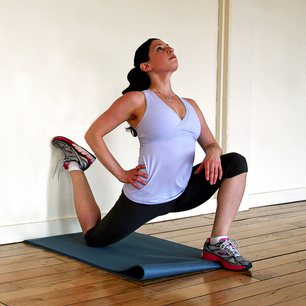 Stretches to help you do the splits popsugar fitness for Split wall