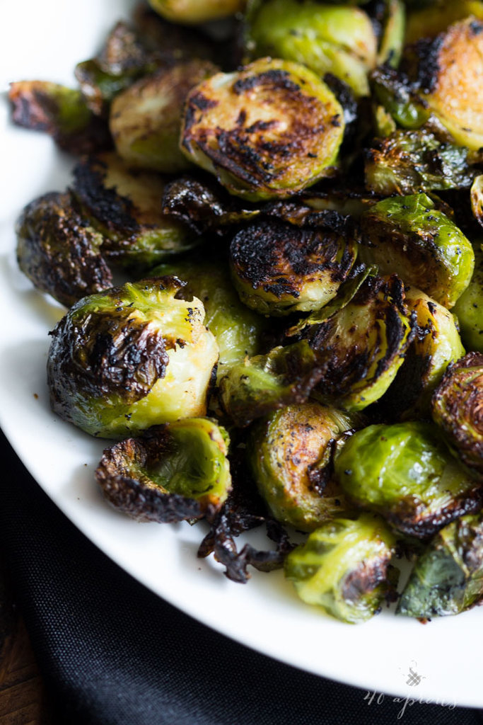 Crispy Miso Roasted Brussels Sprouts